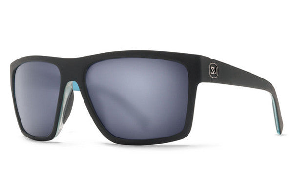 Von Zipper - Dipstick Hot Box Black Blue Satin HBB Sunglasses, Slate Matte Lenses