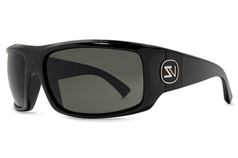 VonZipper - Clutch Black Gloss BKG Sunglasses, Grey Lenses