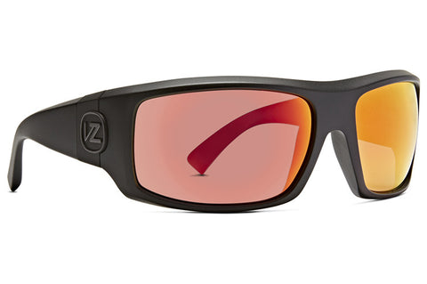 VonZipper - Clutch Black Satin Sunglasses / Red Chrome Lenses