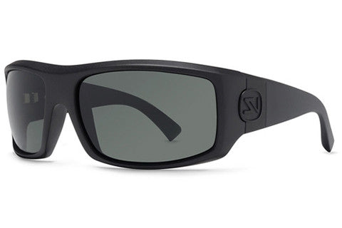 Von Zipper - Clutch Black Satin SIN Sunglasses, Grey Lenses