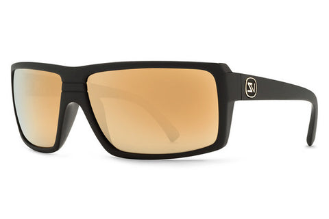 VonZipper - Snark Black Satin Gloss Duo BKD Sunglasses, Gold Glo Lenses