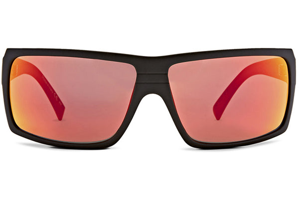 VonZipper - Snark Black Satin Sunglasses / Red Chrome Lenses