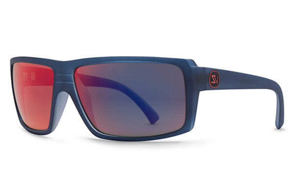 Von Zipper - Snark Navy Satin NVY Sunglasses, Galactic Glo Lenses