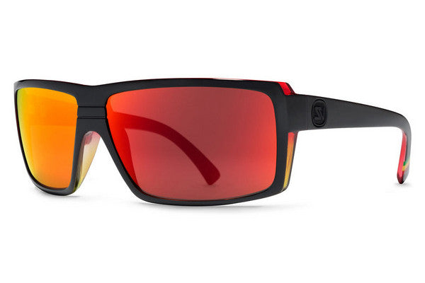 Von Zipper - Snark Vibrations Black Satin VIL Sunglasses, Lunar Glo Lenses