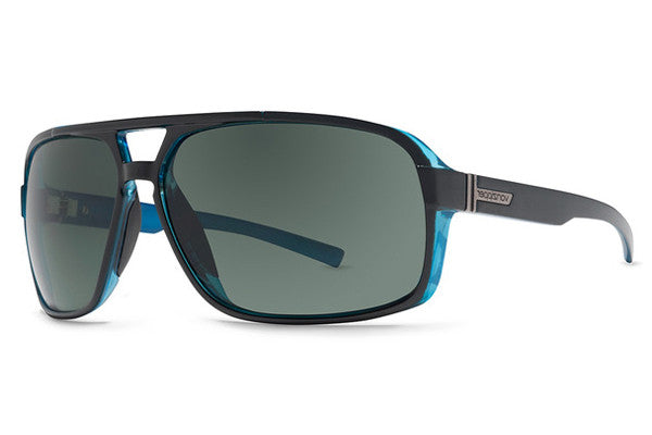 VonZipper - Decco Black Blue BBK Sunglasses, Vintage Grey Lenses