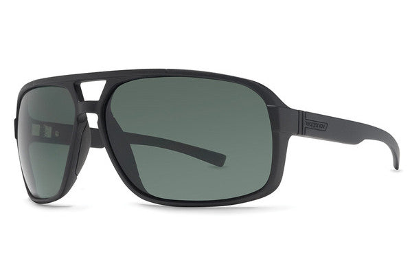 Von Zipper - Decco Black Satin SIN Sunglasses, Vintage Grey Lenses