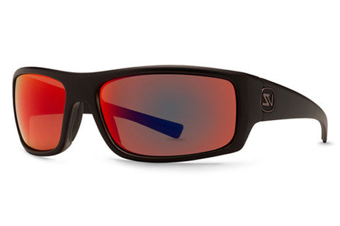 Von Zipper - Scissorkick Black Smoke Satin BSM Sunglasses, Galactic Glo Lenses