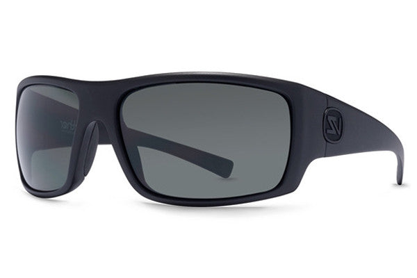 Von Zipper - Suplex Black Satin BKS Sunglasses, Grey Lenses