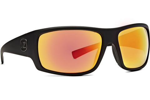 VonZipper - Suplex Black Satin Sunglasses / Red Chrome Lenses