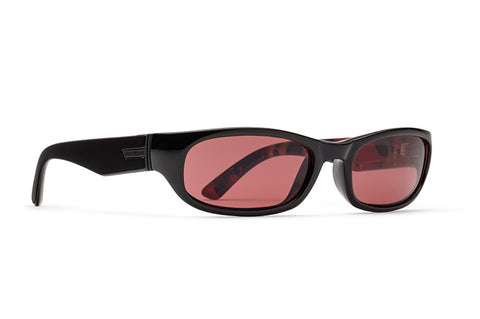 VonZipper - Unit  Liquid Light Black Satin Sunglasses / Rose Lenses