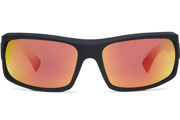VonZipper - Kickstand Black Satin Sunglasses / Red Chrome Lenses