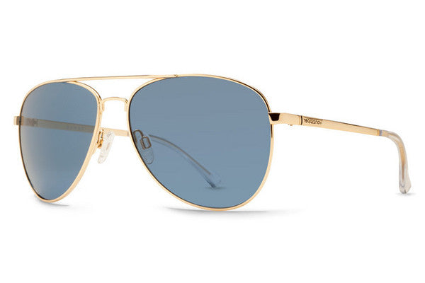 Von Zipper - Farva Gold Gloss GLB Sunglasses, Navy Lenses