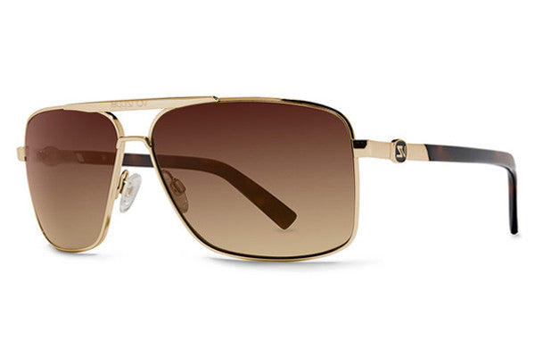 Von Zipper - Metal Stache Gold GBG Sunglasses, Brown Gradient Lenses