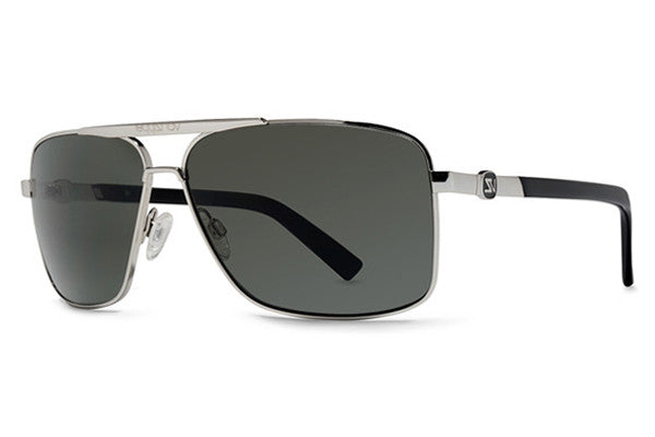 VonZipper - Metal Stache Silver SGY Sunglasses, Grey Lenses