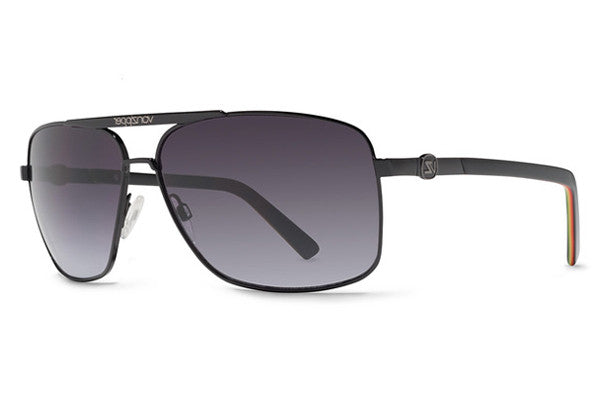 Von Zipper - Metal Stache Black VBB Sunglasses, Grey Gradient Lenses