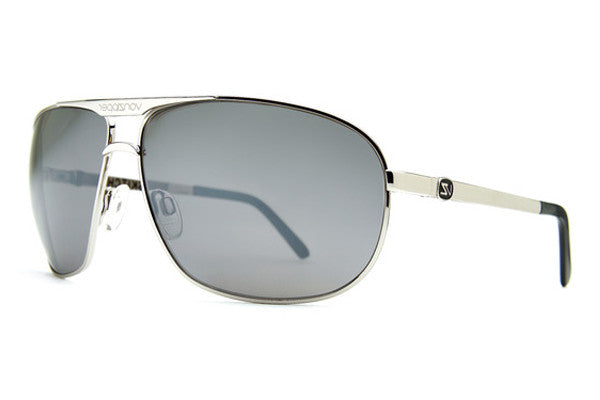 Von Zipper - Skitch Silver SGC Sunglasses, Grey Chrome Lenses