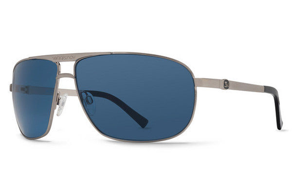 Von Zipper - Skitch Silver Satin SSN Sunglasses, Navy Lenses