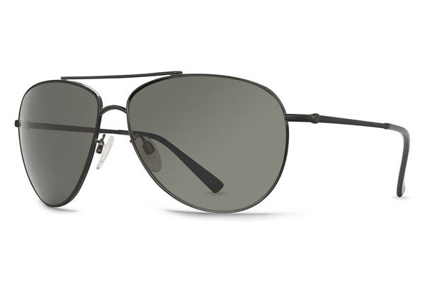 Von Zipper - Wingding Black Satin BKS Sunglasses, Grey Lenses