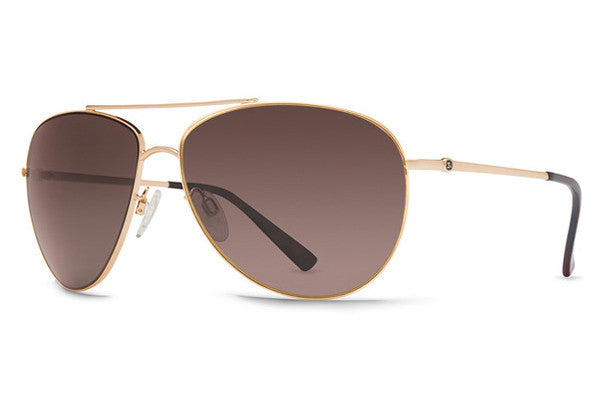 Von Zipper - Wingding Gold GBG Sunglasses, Brown Gradient Lenses