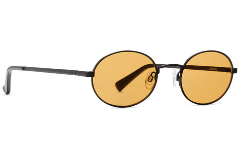 VonZipper - Scenario Black Satin Amber Sunglasses / Orange Lenses