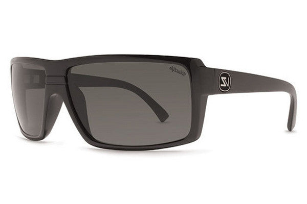 VonZipper - Snark Black Gloss PBV Sunglasses, Wildlife Vintage Grey Polarized Lenses