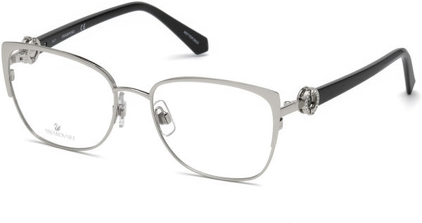Swarovski - SK5256 Shiny Palladium Eyeglasses / Demo Lenses