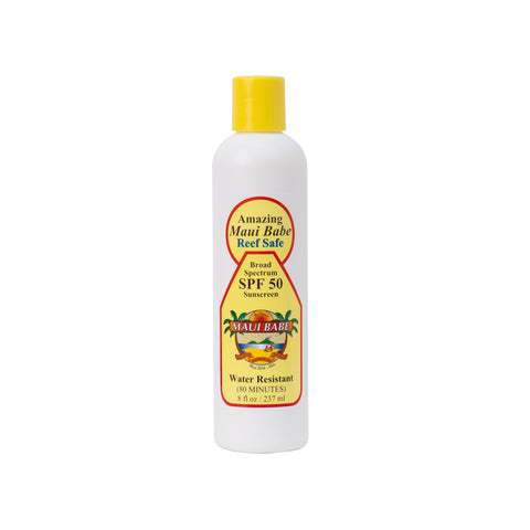 Maui Babe - Reef Safe SPF 50 8oz Sunscreen Lotion