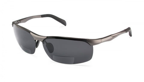 Scojo New York - Sport SZ Dark Gunmetal Reader Sunglasses / Gray +1.50 Lenses
