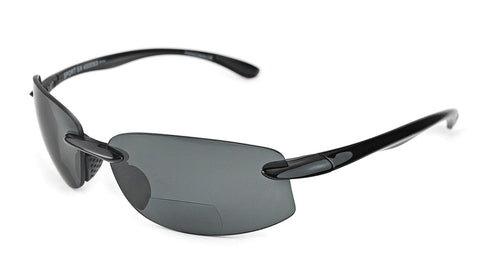 Scojo New York - Sport SX Charcoal Reader Sunglasses / Gray +1.50 Lenses