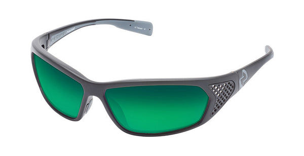 Native - Andes Asphalt/Iron Sunglasses, Polarized Green Reflex Lenses