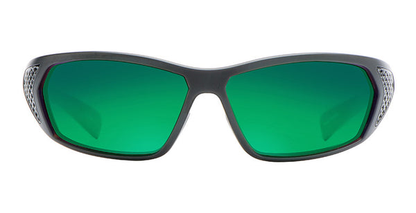 Native - Andes Matte Black/Gloss Black Sunglasses,  Green Reflex Lenses