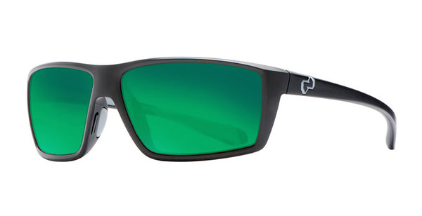 Native - Sidecar Matte Black Sunglasses, Green Reflex Lenses