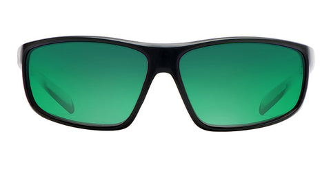 Native - Bigfork Matte Black Sunglasses, Green Reflex Lenses