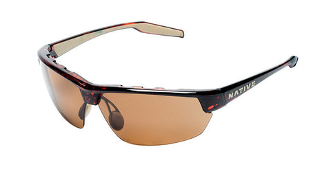 Native - Hardtop Ultra Maple Tort Sunglasses, Polarized Brown Lenses