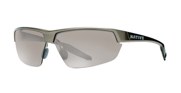 Native Hardtop Ultra Gunmetal Sunglasses,  Silver Reflex Lenses