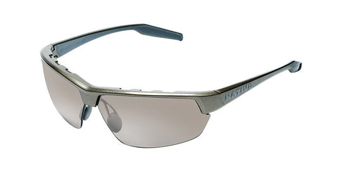 Native - Hardtop Ultra Gunmetal Sunglasses, Polarized Silver Reflex Lenses