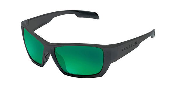 Native - Ward Asphalt Sunglasses, Polarized Green Reflex Lenses