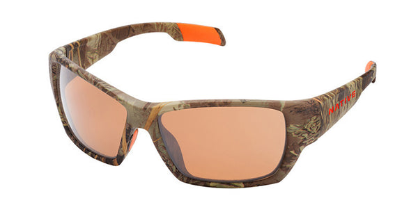 Native - Ward Realtree MAX-1 Camo Sunglasses, Polarized Brown Lenses