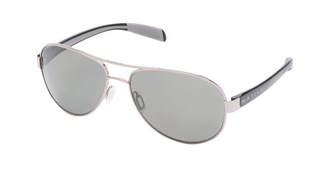 Native - Patroller Chrome/Iron Sunglasses, Polarized Gray Lenses