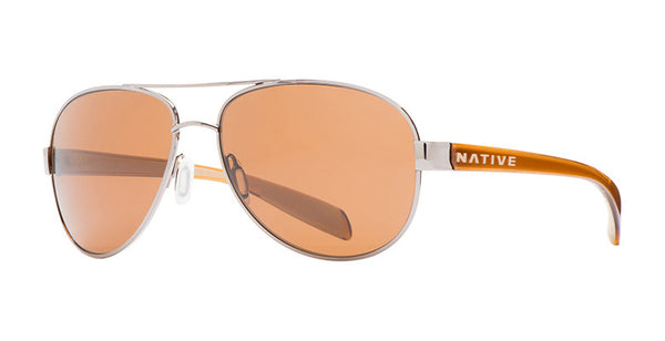 Native - Patroller Chrome/Crystal Brown Sunglasses, Brown Lenses