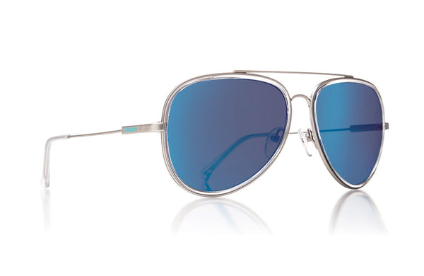 Dragon - Status Matte Silver / Blue Ion Sunglasses