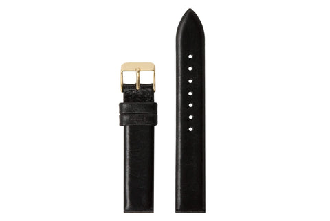 Komono - Strap 16.5 Black Gold Watch Strap