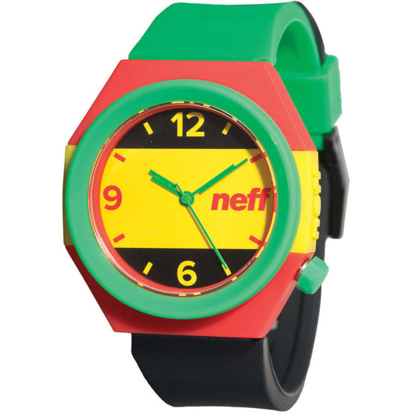 Neff - Stripe Rasta Watch