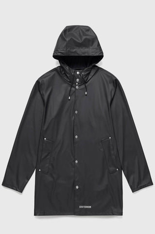 Stutterheim - Stockholm Lightweight Black Raincoat
