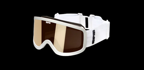 Izipizi - #Sun Snow Small White Snow Goggles / Light Brown Lenses