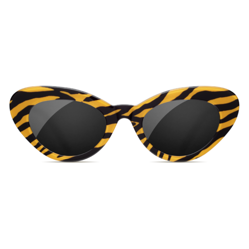 CHiMi - Tiger Round Stripe 48mm Black Yellow Sunglasses / Black Lenses