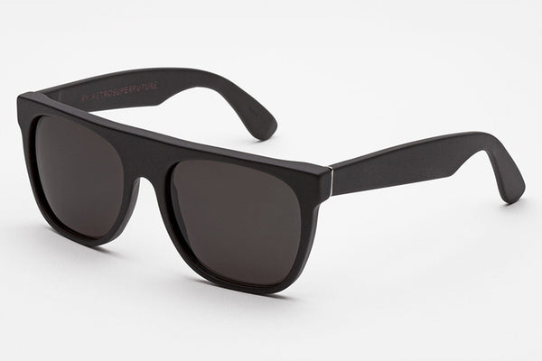 Super - Flat Top Matte Black Sunglasses