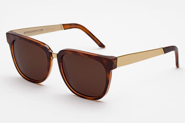 Super - People Francis Havana Gold Sunglasses