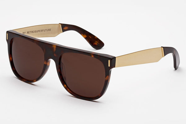 Super - Flat Top Francis Havana Sunglasses