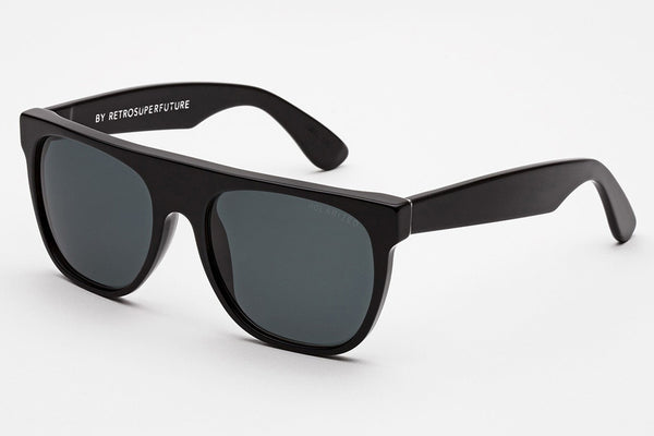 Super - Flat Top Black Polarized Sunglasses